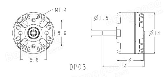LKTR120 Micro FPV Quadcopter Frame Kit